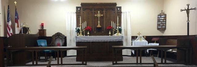 Trinity Mission interior