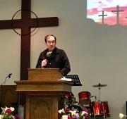 Fr. Bill O'Brien, SJ, preaches.